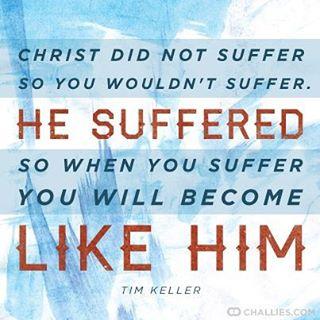 Christ didn't suffer