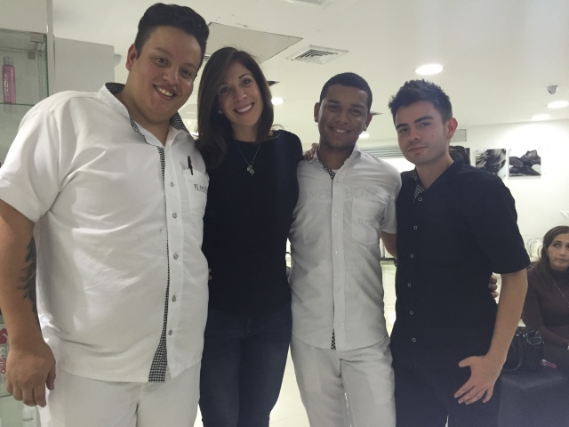 """Me and my Columbian """"dream team"""" of stylists back in March!"""